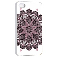 Ornate mandala Apple iPhone 4/4s Seamless Case (White)