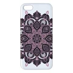 Ornate mandala iPhone 5S/ SE Premium Hardshell Case