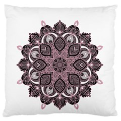 Ornate mandala Large Flano Cushion Case (Two Sides)