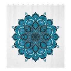Ornate mandala Shower Curtain 66  x 72  (Large)