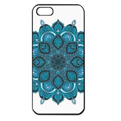 Ornate mandala Apple iPhone 5 Seamless Case (Black)