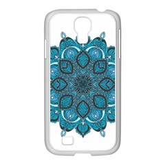 Ornate mandala Samsung GALAXY S4 I9500/ I9505 Case (White)