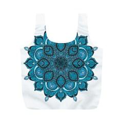Ornate Mandala Full Print Recycle Bags (m)