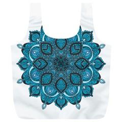Ornate mandala Full Print Recycle Bags (L)