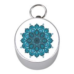 Ornate Mandala Mini Silver Compasses