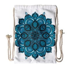 Ornate mandala Drawstring Bag (Large)