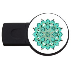 Ornate Mandala Usb Flash Drive Round (4 Gb)