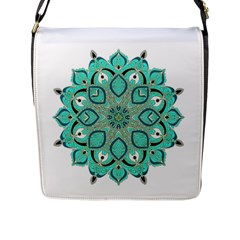Ornate mandala Flap Messenger Bag (L)