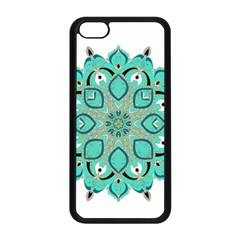 Ornate mandala Apple iPhone 5C Seamless Case (Black)