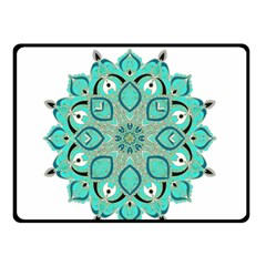 Ornate mandala Double Sided Fleece Blanket (Small)