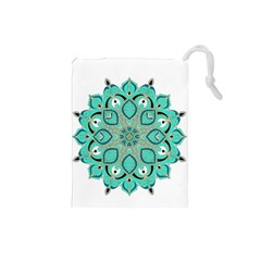 Ornate mandala Drawstring Pouches (Small)