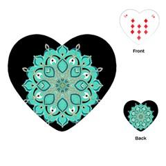 Ornate mandala Playing Cards (Heart)