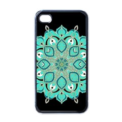 Ornate mandala Apple iPhone 4 Case (Black)