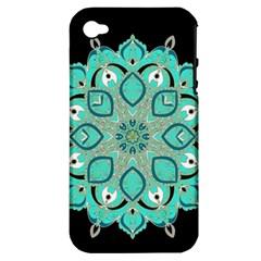 Ornate mandala Apple iPhone 4/4S Hardshell Case (PC+Silicone)