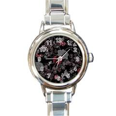 Sakura Rose Round Italian Charm Watch