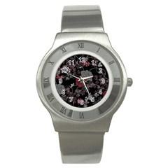 Sakura Rose Stainless Steel Watch