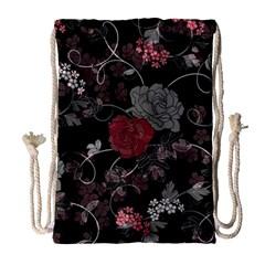 Sakura Rose Drawstring Bag (Large)