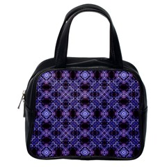 Lavender Moroccan Tilework  Classic Handbags (One Side)