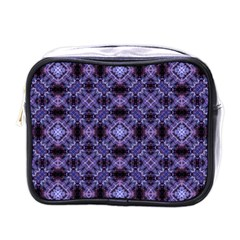 Lavender Moroccan Tilework  Mini Toiletries Bags