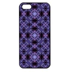 Lavender Moroccan Tilework  Apple iPhone 5 Seamless Case (Black)