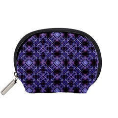 Lavender Moroccan Tilework  Accessory Pouches (Small)