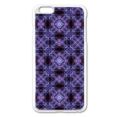 Lavender Moroccan Tilework  Apple iPhone 6 Plus/6S Plus Enamel White Case