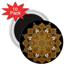 Ornate mandala 2.25  Magnets (10 pack)