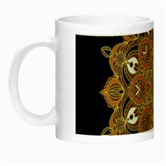 Ornate mandala Night Luminous Mugs