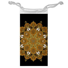 Ornate mandala Jewelry Bag
