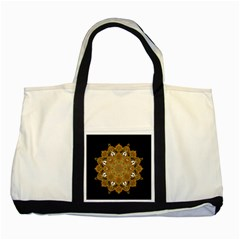 Ornate mandala Two Tone Tote Bag
