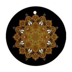 Ornate mandala Round Ornament (Two Sides)