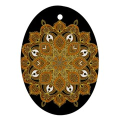 Ornate mandala Oval Ornament (Two Sides)