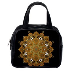 Ornate mandala Classic Handbags (One Side)