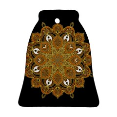 Ornate mandala Bell Ornament (Two Sides)