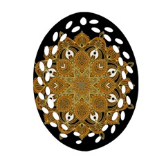 Ornate mandala Ornament (Oval Filigree)