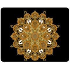 Ornate mandala Double Sided Fleece Blanket (Medium)