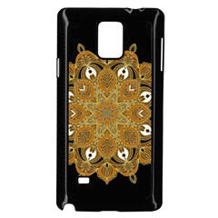 Ornate mandala Samsung Galaxy Note 4 Case (Black)