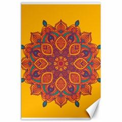 Ornate mandala Canvas 20  x 30