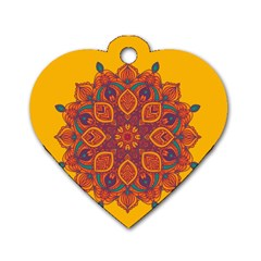Ornate mandala Dog Tag Heart (Two Sides)