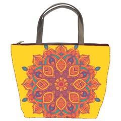 Ornate Mandala Bucket Bags
