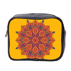 Ornate mandala Mini Toiletries Bag 2-Side