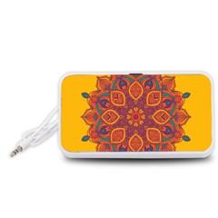 Ornate mandala Portable Speaker (White)