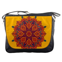 Ornate mandala Messenger Bags