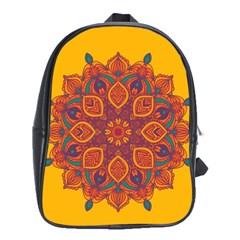 Ornate mandala School Bags (XL)