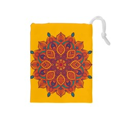 Ornate mandala Drawstring Pouches (Medium)