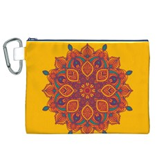 Ornate mandala Canvas Cosmetic Bag (XL)