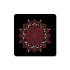 Ornate mandala Square Magnet