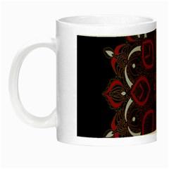 Ornate Mandala Night Luminous Mugs