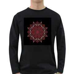 Ornate mandala Long Sleeve Dark T-Shirts
