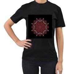 Ornate mandala Women s T-Shirt (Black)